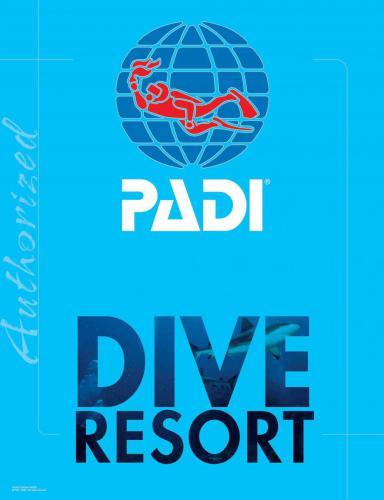 Logo PADI Dive resort