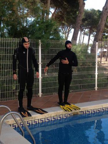 Pool Session - Open Water course - Deep entrance